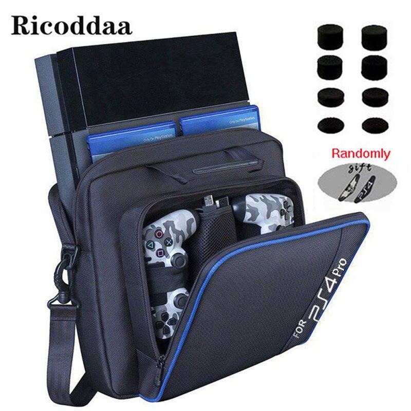 For PS4 Slim/Pro Game Sytem Bag Canvas Carry Bag Case Protective Shoulder For PlayStation 4 PS4 Console Travel Storage Handbag