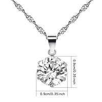 New Pattern Fashion Joker Clavicle Chain Crystal Necklace Circular 6 Clawed White Zircon Witch From Nepal Pendant CAT223 shouzh