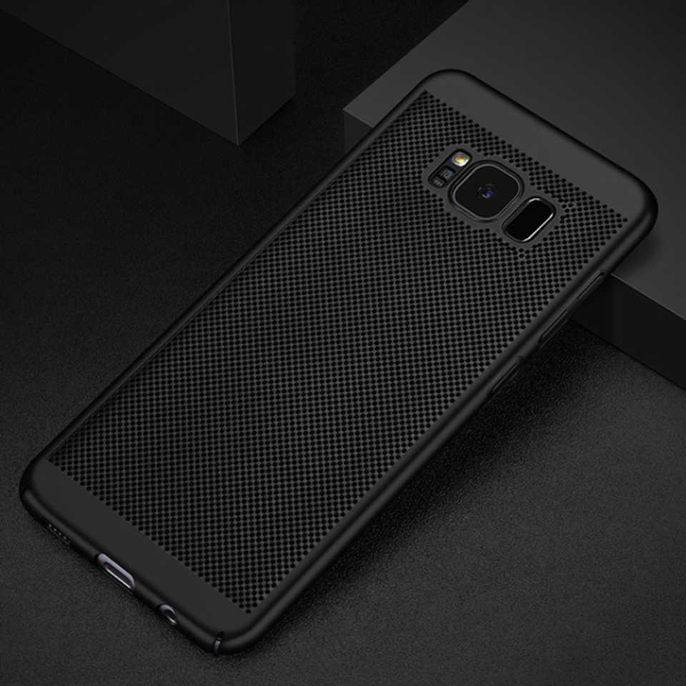 Матовая рассеивания тепла ПК Жесткий Чехол для Samsung Galaxy S8 плюс S7 Edge Note 8 S9 A3 A5 A7 J3 J5 J7 2016 2017 Пластик чехол для телефона