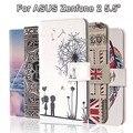 Fashion Painting Cross Lines Flip Wallet Case for ASUS Zenfone 2 ZE551ML Cover ASUS Zenfone 2 ZE550ML Coque Fundas PU Leather
