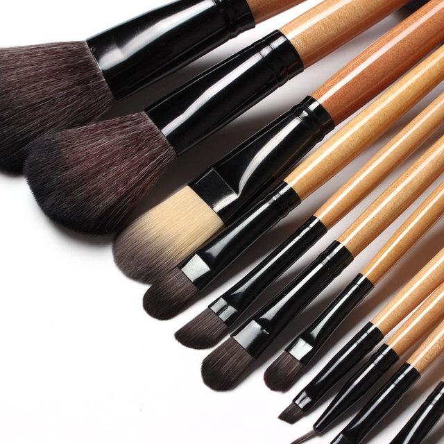 15 pcs Soft Synthetic Hair make up tools kit