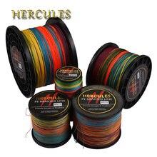 Hercules Braided Fishing Line 8 Strands Multicolor 100M 300M 500M 1000M 1500M 2000M Sea Cord linha multifilamento fio