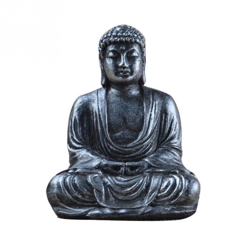 Mini Harmony Innovative Exquisite Buddha Statue Resin Valuable Sculpture Meditating Antique Style Home Decor Buda