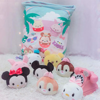 8 pcs small plush whales toys pink sakura rabbit Japan anime Kitty & melody stuffed doll simulation candy in bag throw pillow