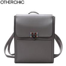 Otherchic новые модные женские туфли рюкзак искусственная кожа элегантный дизайн для девочек школьная сумка рюкзак женщин Дорожные сумки ранец L-7N07-81