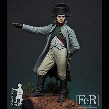 1/32 Napoleon Bonaparte, Grenoble, 1815, 54mm, Resin Model figure GK, Historical character theme, Unassembled and unpainted kit