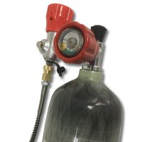Новый 3L EN12245 30mpa 4500Psi цилиндр воздуха резервуар PCP SCBA бутылки и клапан и заполнить станции Прямая доставка