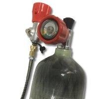 Новый 3L EN12245 30mpa 4500Psi цилиндр воздуха PCP бак SCBA бутылки и клапан и заполнить станции Прямая доставка