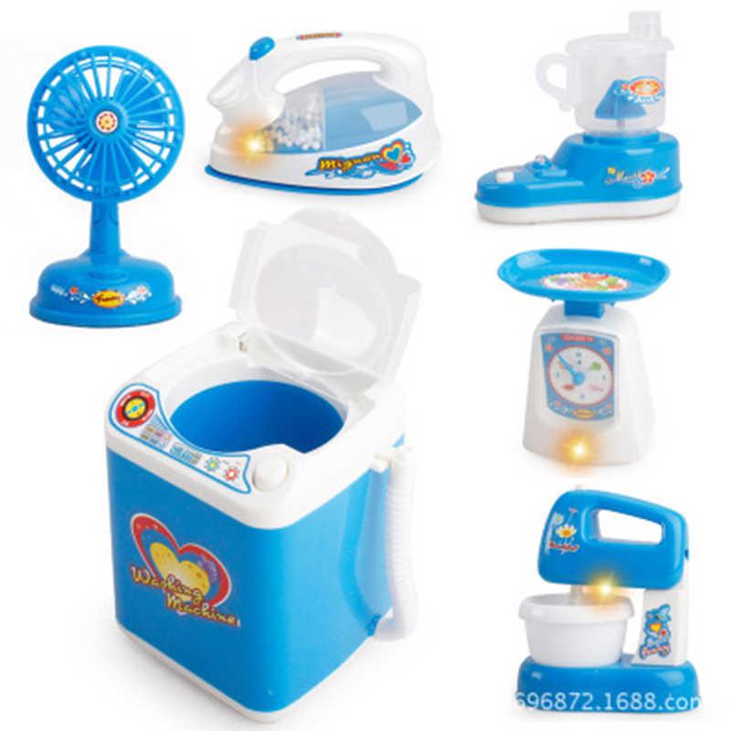 Детский игровой домик маленькая бытовая техника стиральная машина игрушки рисоварка мини кухонные игрушки холодильник настольная лампа взрыв