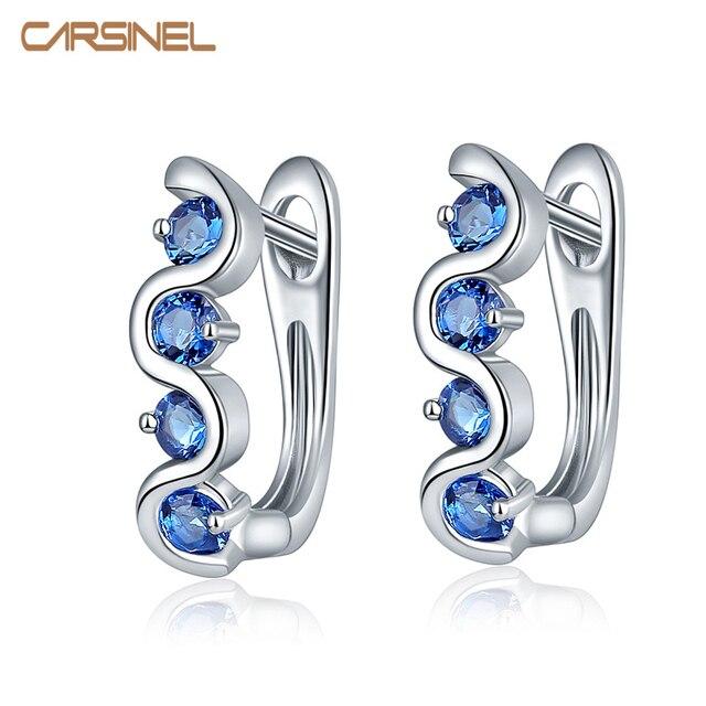CARSINEL High Quality Small Hoop Earrings For Women AAA Cubic Zircon Earrings Bi