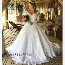 OKOUFEN Long Sleeves Wedding Dresses 2019 Dress For