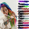 24 Inch Ombre Kanekalon Jumbo Braiding Hair 13 Colors 2 Tones Ombre Color African Yaki Straight Synthetic Crochet Twist Hair
