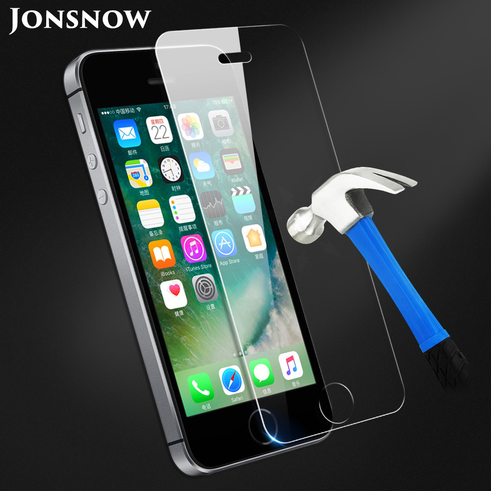 KIP5S-1141_1_Tempered Glass for iPhone 5 5S SE