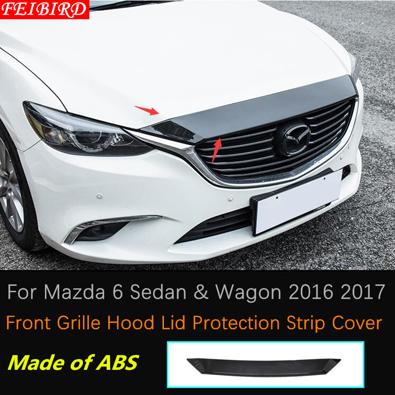 Carbon fiber style Car Door Lock Protection Cover For Mazda 6 Atenza 2017 2018