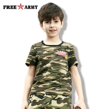 Brand Summer Smile Face Tops Tees Short Sleeve Cotton Fashion Kids T-shirt Boys T Shirt Military Camo O-neck Casual Tshirt Girl coodrony brand t shirt men summer short sleeve t shirt men streetwear fashion tshirt casual o neck cotton tee shirt homme s95078