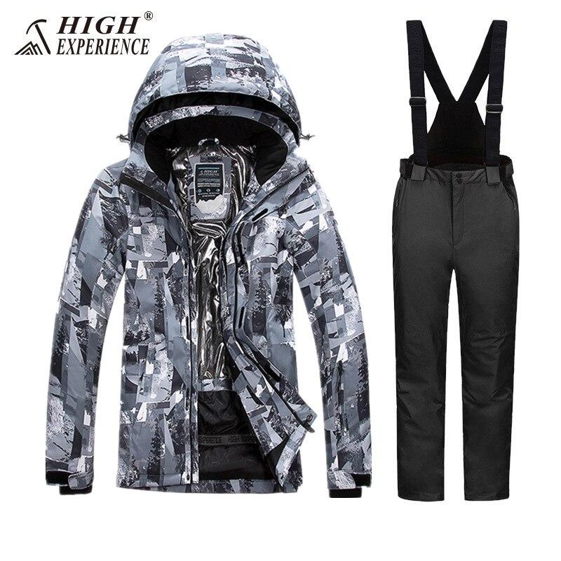 2018 chaud wintersport ski costumes pour hommes snowboard ski veste hommes neige pantalon ski et snowboard costumes imperméable
