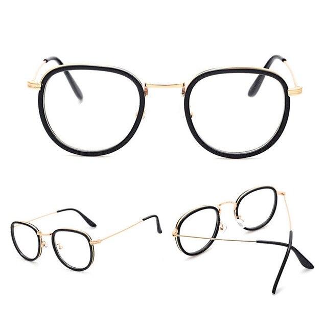 Baru Anti-radiasi Kacamata Kacamata Kaca Polos Fashion Wanita Logam +  Plastik Penuh Bingkai Kacamata 7123022846