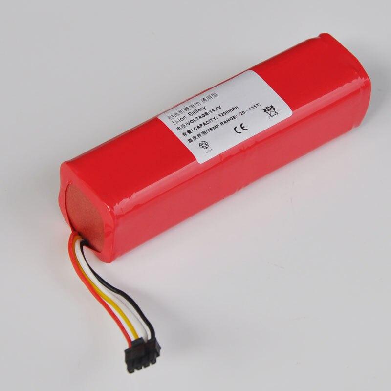 NOUVEAU 14.8 v Li-ion Rechargeable Cellule de Batterie Pack 5200 mah 14.4 v pour Xiaomi Pierre série Aspirateur Robot de Balayage