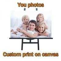 Personalize suas fotos na lona impressões personalizadas à prova dwaterproof água impressão em spray cartazes e impressões personalizadas suas fotos decoração da sua casa