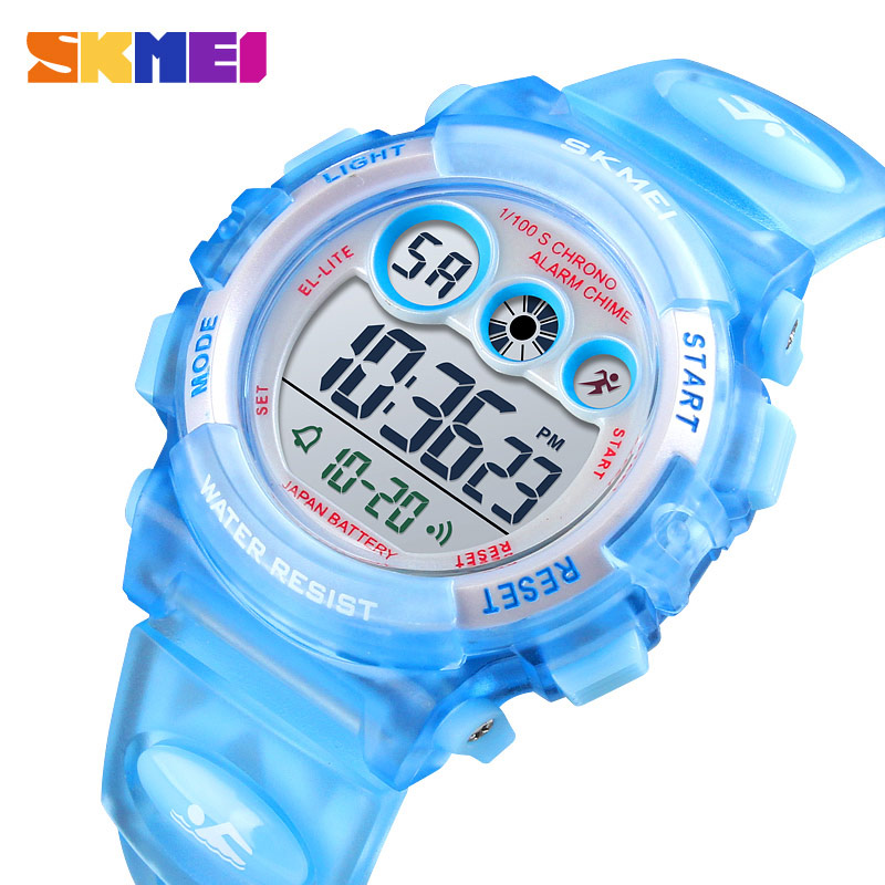 SKMEI moda su geçirmez çocuk erkek kız izle dijital LED saatler Alarm tarih spor elektronik dijital saat Dropship 1451
