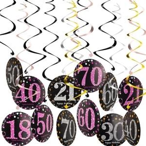 Image 2 - Individuality Birthday Decoration 50th Birthday 18 30 40 60 70 Adult Girl Birthday Party Decoration Hanging Ornaments Set