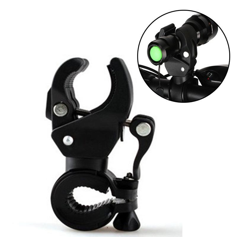 Universal Bicycle Lights Clip On For MTB Road Bike Cycling Front Light Clip Bracket Flashlight Holder 360 Rotation