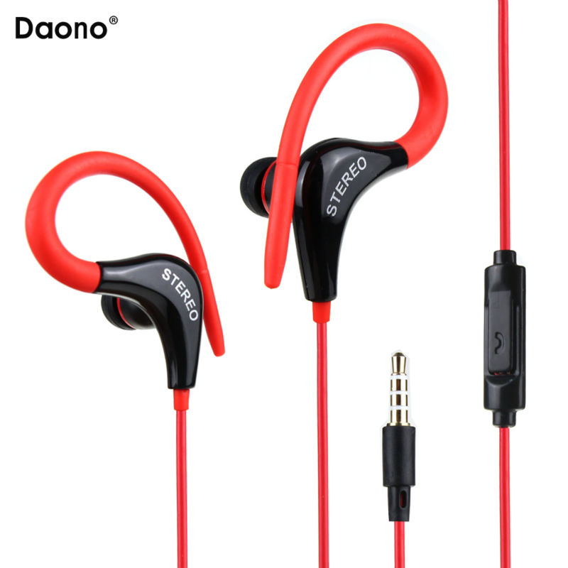 все цены на Sports Earphones Running Headphones mic in-ear earhook Music Stereo Headset Sports-Fi Universal for all phone mp3 онлайн
