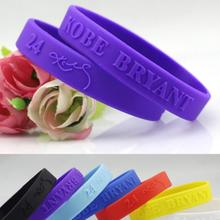 OMH wholesale wristbands black bule sport basketball silica gel hand circle the lakers KOBE signatur