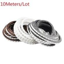 10 м/лот 3 м самоклеющиеся буферные подушки прокладки погоды уплотнение кисти алюминиевые окна двери