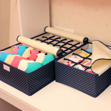 QUBABOBO Storage Box Set With Cap Bra Socks Underwear Storage Box Underwear Organizer 3Pcs Set Sock Case Big Capacity 32*26*13cm