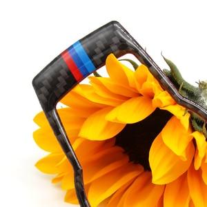 Image 3 - Для BMW 3 серии E90 E92 E93 2005 2006 2007 2008 2009 2010 2011 2012 углеродного волокна фар переключатель рамки крышка Стикеры отделка