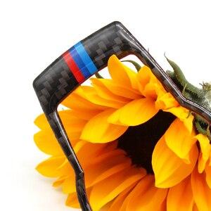 Image 3 - For BMW 3 Series E90 E92 E93 2005 2006 2007 2008 2009 2010 2011 2012 Carbon Fiber Headlight Switch Frame Cover Sticker Trim