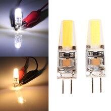 Светодиодный светильник G4 220 В 6 Вт COB светодиодный G4 лампа с регулируемой яркостью для хрустальная люстра мини светодиодный свет