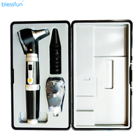 2 IN 1 Fiber Optic Multi Purpose Professional High Grade Diagnostic Medical ENT Portable Otoscope / ophthalmoscope replace Head