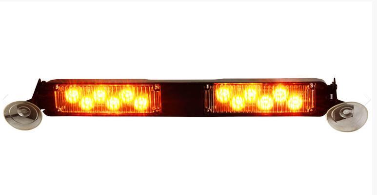 Higher star DC12V 12W Led car Windshield warning lights,dash emergency light,11flash pattern