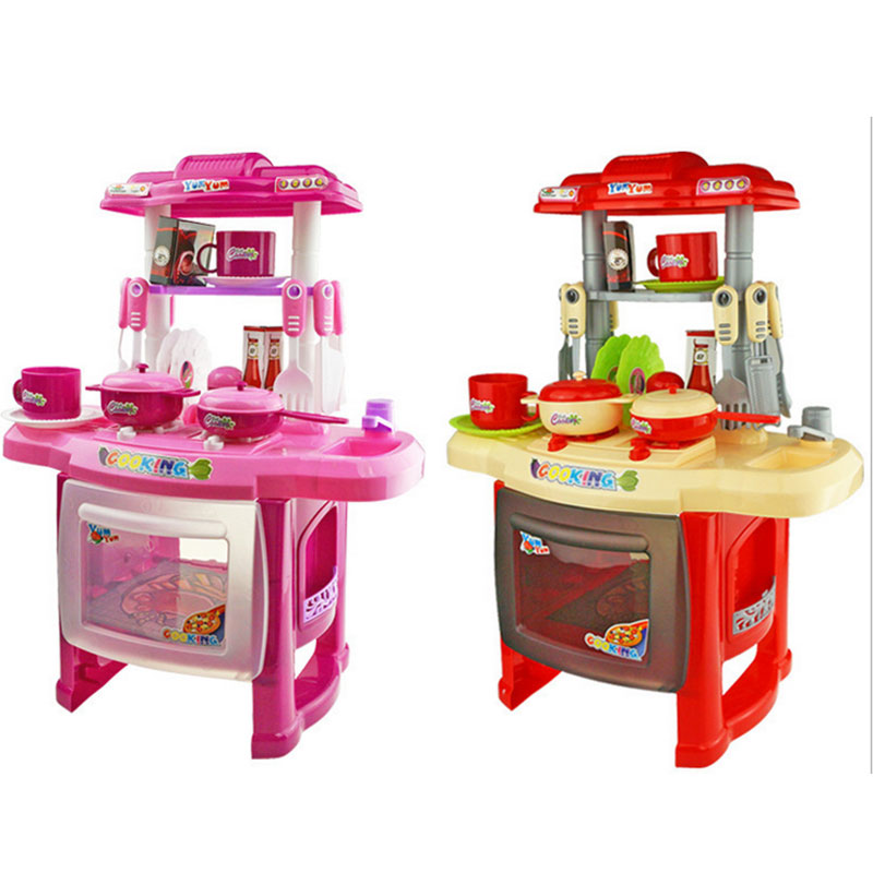 Boys Girls Cooking Toys Light Sound Effect Pretend Play Kitchen Play Toys Sets China