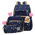 School Bags for Teenagers Girls Schoolbag Large Capacity Ladies Dot Printing School Backpack set Rucksack Bagpack Cute Book Bags