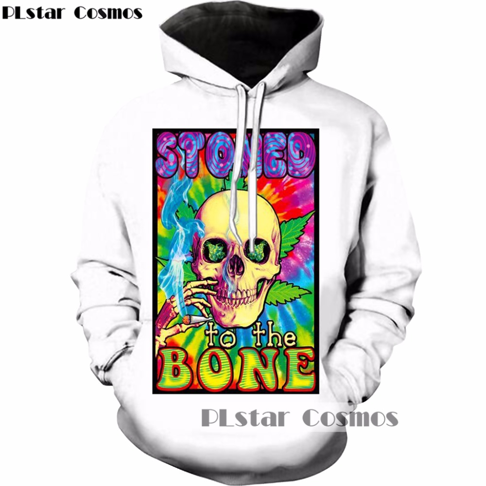 PLstar Cosmos 2017 Autumn/winter New Fashion 3d hoodies Funny Design Colorful skull Print Men Women hooded sweatshirt B3107