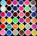 36 Pcs Mix Color Pure Glitter Hexagon Sheet UV Builder Gel for Nail Art Tip Set