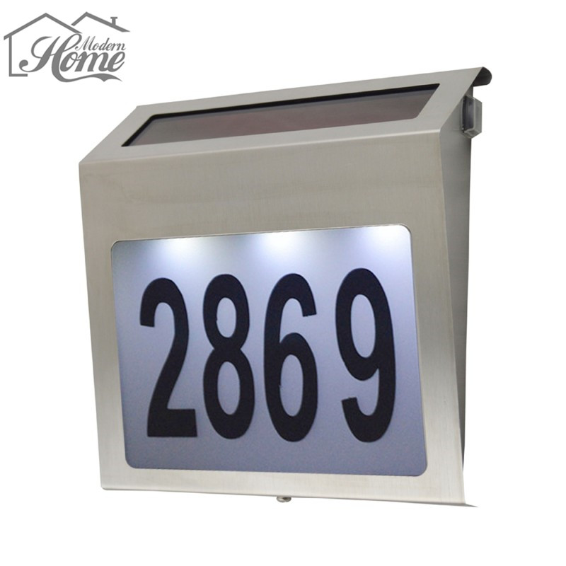charming bright houses number #2: Solar Powered House Number Light Lamps Good For Door Solar Inside Import  LED Chip Super Bright Manufacturer Home Decoration-in Night Lights from  Lights ...