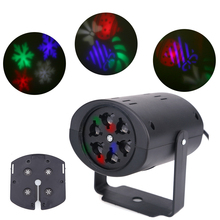 Christmas Snowflake Projector 3W 2 Pattern Lens LED Party Light DJ KTV Bar Rotating Stage Lighting Bulb for Kid Xmas Gifts