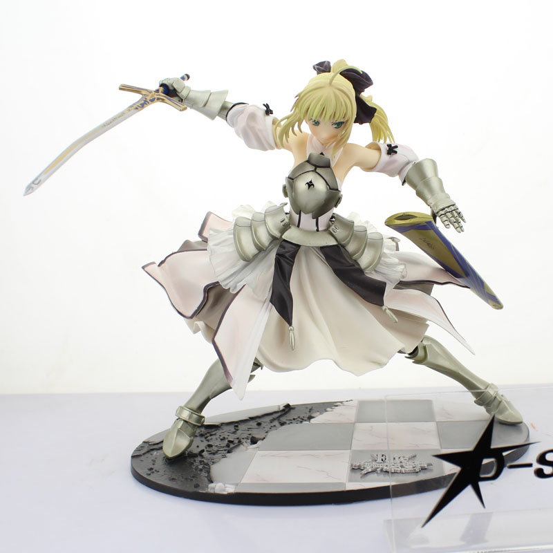Free Shipping 9 Fate Stay Night FST Anime Saber Lily Avalon Ver. Boxed 22cm PVC Action Figure Collection Model Doll Toy Gift hot figure toys 11 japanese anime fate stay night ubw saber pvc action figure toy gift collection p45