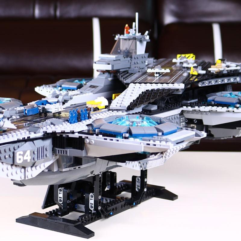 3057pcs-LEPIN-07043-Super-Heroes-The-SHIELD-Helicarrier-Model-Building-Kits-Minifigure-Blocks-Bricks-Toys-brinquedos (3)