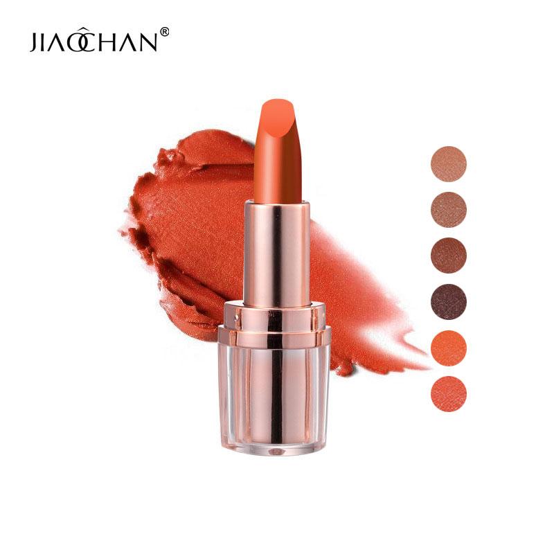 Jiaochan marca mate lápiz labial crema hidratante cosmética de - Maquillaje