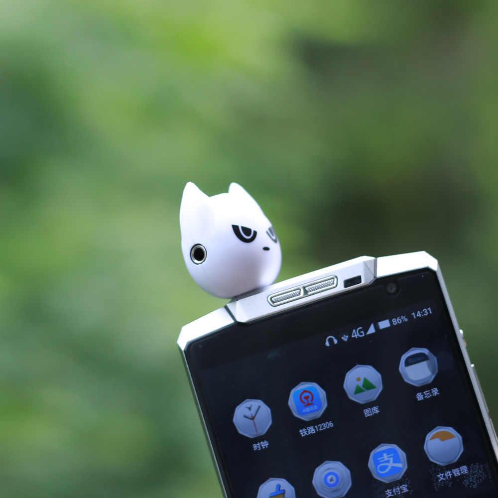 Jeebel potrójne rozdzielacz audio słuchawkowe 3.5mm śliczne Adapter do rozdzielacz do słuchawek dla MP3 odtwarzacz Adapter słuchawkowy potrójne Jack