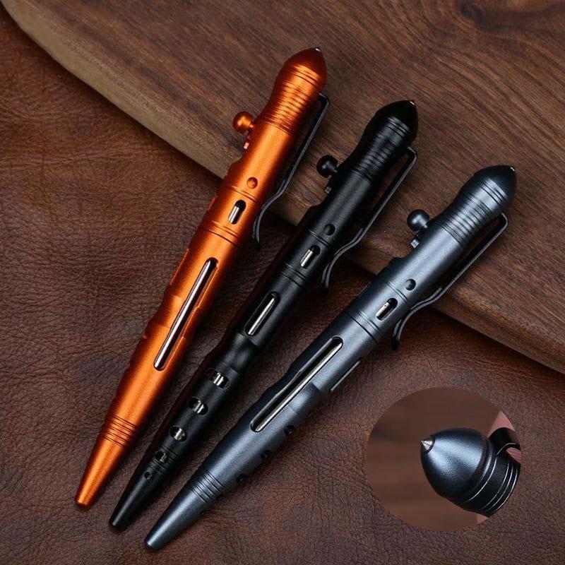 Heißer Verkauf Tragbare Selbstverteidigung Tactical Pen Glas Breaker mit Bolzen Schalter Design Outdoor Sport Sicherheit Notfall Ausrüstung
