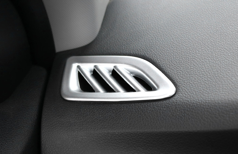 2PCS ABS Matte Interior Upper Air Vent Outlet Cover Trim For Hyundai Verna Solaris Accent 2018 (for Left Hand Drive) interior vent outlet cover trim 7pcs for lexus rx200t rx450h 2016 left hand drive car