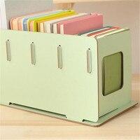 CB180 New Home Desktop Creative DIY Assembled Wooden CD Rack Storage Book Rack 1pc