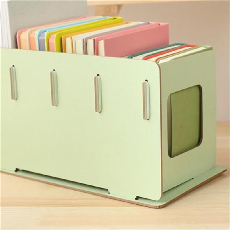 CB180 new Home Desktop Creative DIY Assembled Wooden CD Rack Storage Book Rack 1pc objective ielts advanced student s book with cd rom