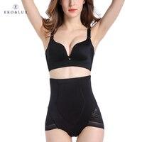 Eko & lux alto control de la cintura elegante mujeres shapewear inconsútil de la talladora panty brief panty de control tummy bodyshapers adelgazantes